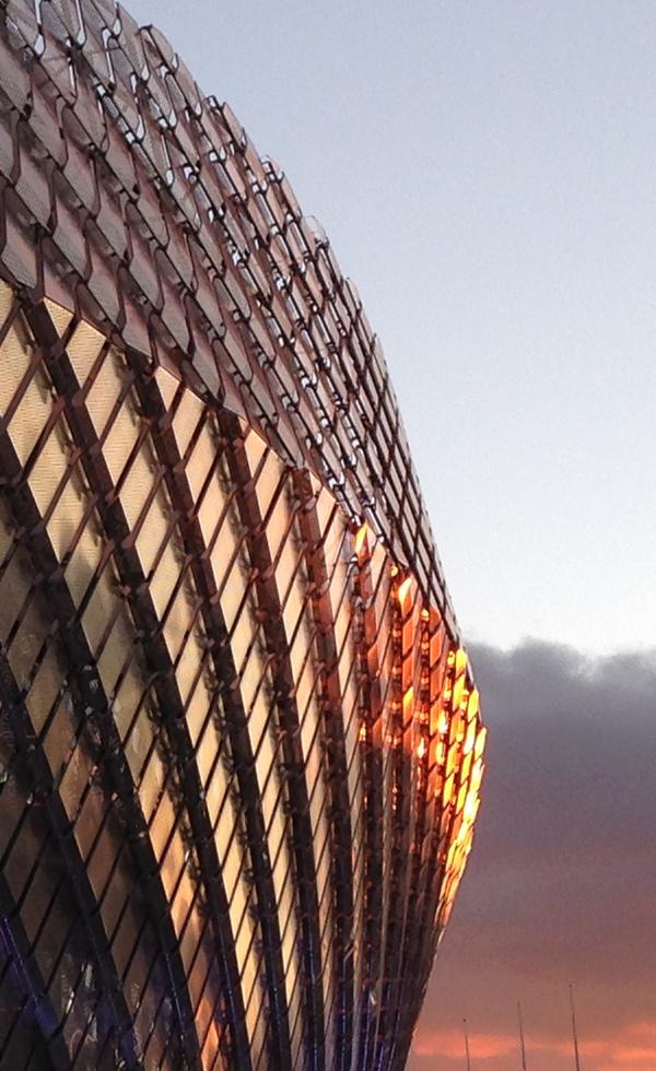 Naturligt ljus på fasaden